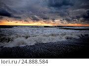 Купить «Storm on the beach in the Sochi, Russia», фото № 24888584, снято 24 сентября 2014 г. (c) Александр Карпенко / Фотобанк Лори