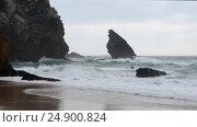 Купить «Atlantic ocean storm, Portugal», видеоролик № 24900824, снято 14 января 2017 г. (c) Юрий Брыкайло / Фотобанк Лори