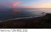 Купить «Summer sunrise ocean view», видеоролик № 24902232, снято 3 января 2017 г. (c) Юрий Брыкайло / Фотобанк Лори