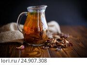 Купить «compote of dried fruits in a carafe», фото № 24907308, снято 16 января 2017 г. (c) Peredniankina / Фотобанк Лори