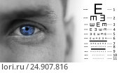 Купить «Composite image of eye test», фото № 24907816, снято 19 августа 2018 г. (c) Wavebreak Media / Фотобанк Лори