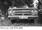 Купить «Old Datsun 1300 pickup car», фото № 24919240, снято 16 августа 2016 г. (c) EugeneSergeev / Фотобанк Лори