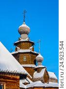 Фрагмент Преображенской церкви из села Козлятьево зимой. Суздаль, Россия, фото № 24923544, снято 7 января 2011 г. (c) Эдуард Паравян / Фотобанк Лори