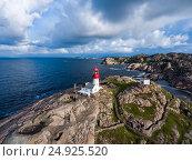 Купить «Lindesnes Fyr Lighthouse, Norway», фото № 24925520, снято 1 августа 2016 г. (c) Андрей Армягов / Фотобанк Лори