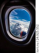 Купить «Airplane window», фото № 24925552, снято 20 июня 2011 г. (c) Андрей Армягов / Фотобанк Лори