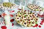 strawberries with chocolate at catering party, фото № 24929032, снято 25 сентября 2014 г. (c) Дмитрий Калиновский / Фотобанк Лори