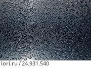 Купить «Water drops darken background texture», фото № 24931540, снято 10 июля 2016 г. (c) Александр Волков / Фотобанк Лори
