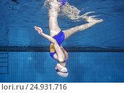 Купить «Underwater view of Synchronized Swimming», фото № 24931716, снято 15 января 2017 г. (c) Некрасов Андрей / Фотобанк Лори