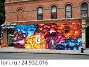 Граффити на стене дома. New York. Mulberry St. (2016 год). Редакционное фото, фотограф Краснощеков Сергей / Фотобанк Лори