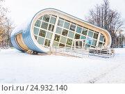 Купить «Шахматный клуб в «Local Дача» на ВДНХ зимой», фото № 24932140, снято 16 января 2017 г. (c) Алёшина Оксана / Фотобанк Лори