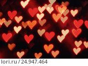Купить «St Valentines Day heart bokeh background», фото № 24947464, снято 13 января 2017 г. (c) Зезелина Марина / Фотобанк Лори