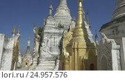 Купить «Shwe Inn Thein Paya temple complex in Myanmar», видеоролик № 24957576, снято 15 ноября 2016 г. (c) Михаил Коханчиков / Фотобанк Лори