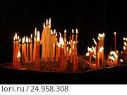 Candles in church . geghard monastery. Стоковое фото, фотограф Евгений Суворов / Фотобанк Лори