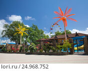 Купить «Курорты Краснодарского края. Село Архипо-Осиповка, вид на аквапарк», фото № 24968752, снято 27 мая 2013 г. (c) SummeRain / Фотобанк Лори