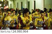 Купить «Spanish carnival at Sitges in night», фото № 24980964, снято 10 февраля 2016 г. (c) Яков Филимонов / Фотобанк Лори