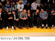 Купить «Celebrities watch the Los Angeles Lakers play The Golden State Warriors Featuring: Lea Michele, Matthew Paetz Where: Los Angeles, California, United States When: 05 Jan 2016 Credit: WENN.com», фото № 24986788, снято 5 января 2016 г. (c) age Fotostock / Фотобанк Лори