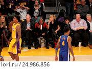 Купить «Celebrities watch the Los Angeles Lakers play The Golden State Warriors Featuring: Floyd Mayweather Jr. Where: Los Angeles, California, United States When: 05 Jan 2016 Credit: WENN.com», фото № 24986856, снято 5 января 2016 г. (c) age Fotostock / Фотобанк Лори