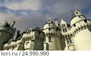 Купить «Usse Castle, Loire Valley, France --also known as Sleeping Beauty's Castle», видеоролик № 24990980, снято 28 января 2017 г. (c) Владимир Журавлев / Фотобанк Лори