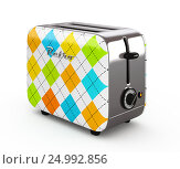 Купить «Vintage toaster isolated on white 3D illustration», иллюстрация № 24992856 (c) Hemul / Фотобанк Лори