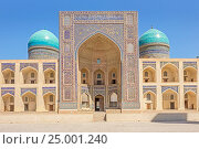 Медресе Мири Араб, Бухара, Узбекистан (2016 год). Стоковое фото, фотограф Ирина Яровая / Фотобанк Лори