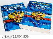 Купить «Конституция и Гражданский кодекс Российской Федерации», фото № 25004336, снято 30 января 2017 г. (c) Павел Сапожников / Фотобанк Лори