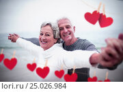 Купить «Composite image of hearts hanging on a line», фото № 25026984, снято 19 марта 2019 г. (c) Wavebreak Media / Фотобанк Лори