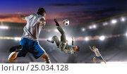 Football hottest moments . Mixed media, фото № 25034128, снято 28 июня 2017 г. (c) Sergey Nivens / Фотобанк Лори