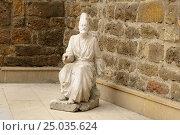 Купить «Statue on the street in Old city, Icheri Sheher. Baku», фото № 25035624, снято 10 сентября 2016 г. (c) Elena Odareeva / Фотобанк Лори