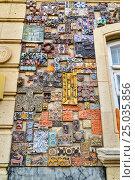 Купить «Wall of building in Old city, Icheri Sheher. Baku», фото № 25035856, снято 10 сентября 2016 г. (c) Elena Odareeva / Фотобанк Лори