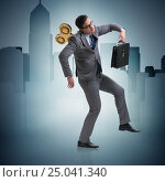 Купить «Businessman with key in hardworking concept», фото № 25041340, снято 20 мая 2019 г. (c) Elnur / Фотобанк Лори