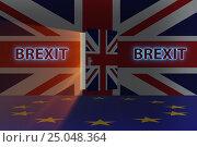 Купить «Brexit concept - UK leaving UE - 3d rendering», фото № 25048364, снято 4 апреля 2020 г. (c) Elnur / Фотобанк Лори