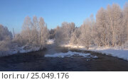 Купить «Panoramic video of of river Kokha near Altai village Urozhainoe at morning time», видеоролик № 25049176, снято 28 января 2017 г. (c) Serg Zastavkin / Фотобанк Лори