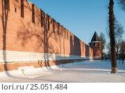 Купить «Город Тула. Никитская башня Тульского кремля зимой», эксклюзивное фото № 25051484, снято 30 января 2017 г. (c) Игорь Низов / Фотобанк Лори