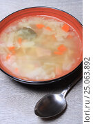Купить «Суп», эксклюзивное фото № 25063892, снято 2 февраля 2017 г. (c) Яна Королёва / Фотобанк Лори