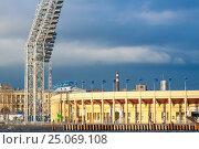 """Купить «Стадиона """"Петровский"""" в Санкт-Петербурге», фото № 25069108, снято 21 апреля 2016 г. (c) Сергей Дубров / Фотобанк Лори"""