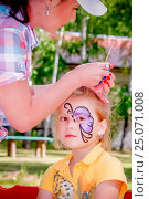 Купить «Аквагрим», фото № 25071008, снято 7 июня 2014 г. (c) Хайрятдинов Ринат / Фотобанк Лори