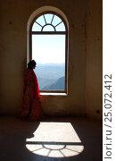 Индия. Удайпур. Женщина у окна. (2016 год). Редакционное фото, фотограф Алтанова Елена / Фотобанк Лори