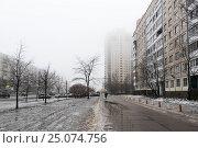 Купить «Санкт-Петербург. Оттепель. Индустриальный проспект», эксклюзивное фото № 25074756, снято 28 января 2017 г. (c) Александр Щепин / Фотобанк Лори