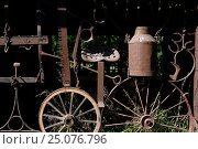 Купить «agriculture,art,can,container,machinery,milk can,nature morte,obsolete,Old,out of use,rural,rust,saddle,saw,still life,used,wheel,wheels», фото № 25076796, снято 12 июня 2016 г. (c) mauritius images / Фотобанк Лори