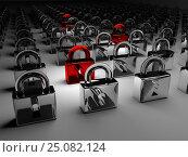 Купить «Computer hacking concept. The attack on the segments.», фото № 25082124, снято 24 марта 2019 г. (c) Александр Якимов / Фотобанк Лори