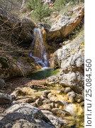Купить «Родниковский водопад в Крыму», фото № 25084560, снято 29 марта 2014 г. (c) Выскуб Анна / Фотобанк Лори