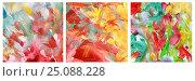 Купить «Триптих, Абстрактный рисунок, гуашь», иллюстрация № 25088228 (c) Виктор Топорков / Фотобанк Лори