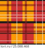 Купить «Red & orange tartan», иллюстрация № 25088468 (c) Silanti / Фотобанк Лори