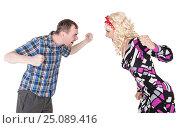 Смешная семейная пара ругается. Стоковое фото, фотограф Darkbird77 / Фотобанк Лори
