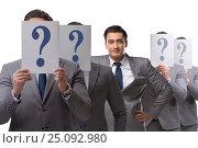 Купить «Businessman having answer to many questions», фото № 25092980, снято 16 июня 2019 г. (c) Elnur / Фотобанк Лори