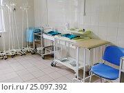 Купить «Процедурный кабинет в московской городской больнице», эксклюзивное фото № 25097392, снято 15 июня 2016 г. (c) Елена Коромыслова / Фотобанк Лори