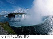 Купить «Niagara falls Ontario Canada. Fish-eye image», фото № 25098480, снято 3 апреля 2020 г. (c) Nature Picture Library / Фотобанк Лори