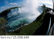 Купить «Niagara falls Ontario Canada. Fish-eye image», фото № 25098640, снято 3 апреля 2020 г. (c) Nature Picture Library / Фотобанк Лори