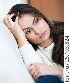 Купить «Adult woman is melancholy», фото № 25103824, снято 20 февраля 2020 г. (c) Яков Филимонов / Фотобанк Лори