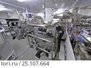 Купить «The state-of-the-art engine room with MTU turbo diesel engines onboard the 35-metre motoryacht Gaia, created by Cantieri Maiora, Italy.», фото № 25107664, снято 16 июля 2018 г. (c) Nature Picture Library / Фотобанк Лори